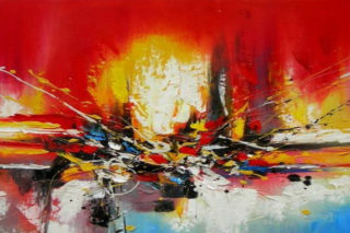 Abstract oil patining