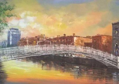 Hapenny Bridge Sunset