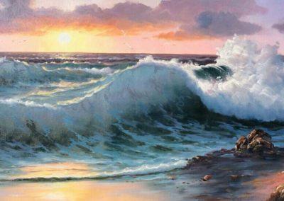 waves-sunset-60x120
