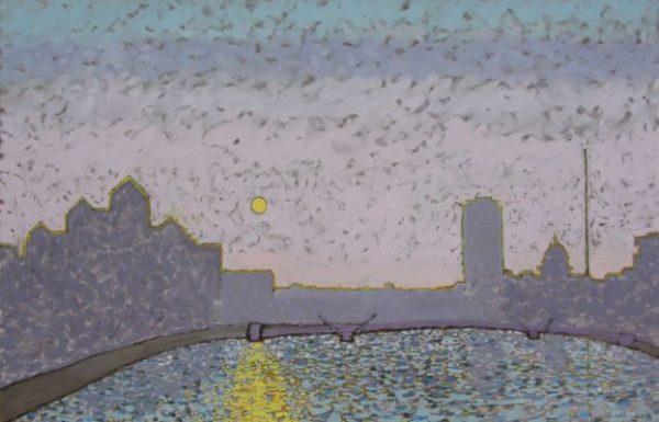Dublin Skyline painting