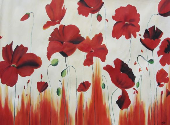 Poppies. Oil Painting