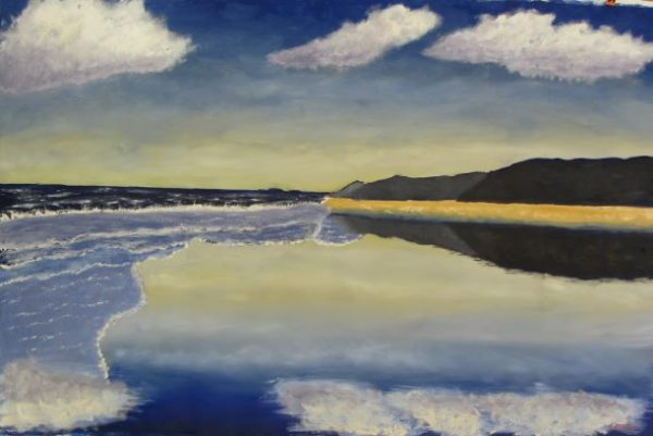 Summer Beach Oil Painting