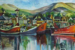 Dingle Harbour Oil Painting