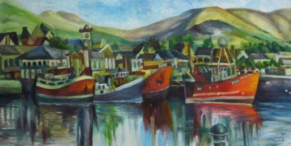 Dingle Harbour Oil Painting