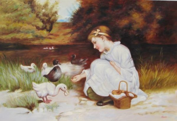 Duck's Picnic Oil Painting