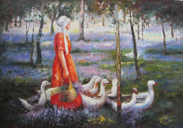 The Goose Girl Oil Painting