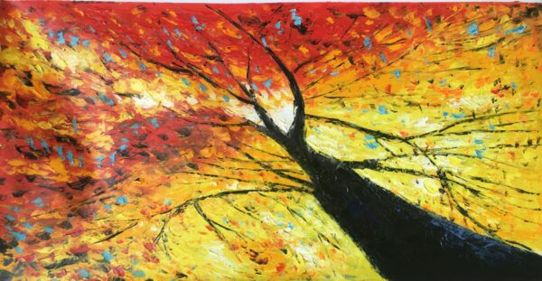 Light Filled Tree Oil Painting
