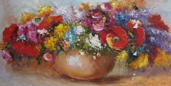 Flower Riot Oil Painting