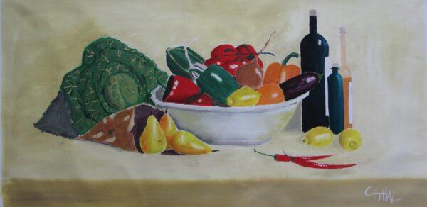 Kitchen painting, Still LIfe