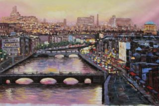 Liffey Summer Evening 70x140