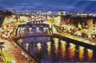 Liffey at night 70x140